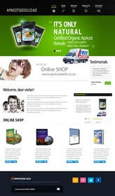 #31 for Graphic Design - Redesign FRONT PAGE Only - apricotseeds.co.nz website by marwenos002