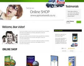 #31 for Graphic Design - Redesign FRONT PAGE Only - apricotseeds.co.nz website af marwenos002