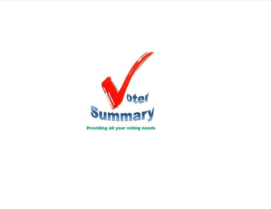 Bài tham dự cuộc thi #                                        18                                      cho                                         Logo Design for Voter Summary