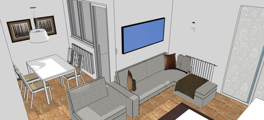 Interior design for 70m2 apartment freelancer for Apartment design 70m2