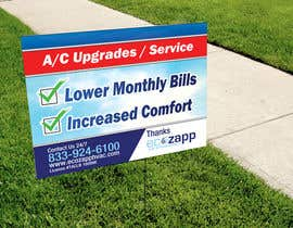 #22 for Yard Sign Design for HVAC - for Customer front yard by gonzalaswong