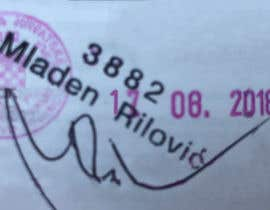 Nro 8 kilpailuun 1. Remove all text and lines except the pink stamp, 3882, Mladen Rilovic and signature.  2. Change the stamp date to say 17.08.2018. käyttäjältä asrafnaim440