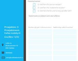 #10 for Design Job safety analysis A4 printable form. by dogamentese