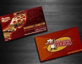 nº 16 pour Design some Business Cards for Maka Mia Pizza par acelobos9