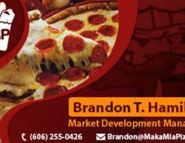 nº 24 pour Design some Business Cards for Maka Mia Pizza par acelobos9