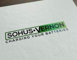 #5 for I need a logo designed.   With box around the below :   SOHUS•VERNON  charging your batteries  Coulours white / green / greys  High quality   Clear back ground in all formats to be supplied by NeriDesign