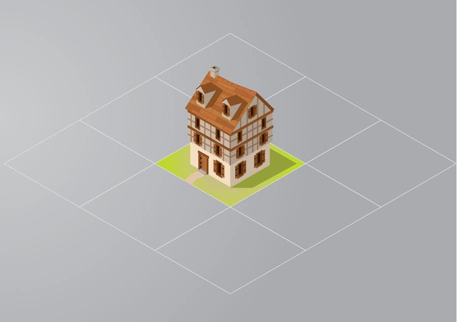 Photography Contest Entry #1 for 50 isometric building designs for iPhone/Android city building game