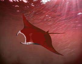#8 for Draw graphic of a manta ray buffeted by wind by ayoubrachid1