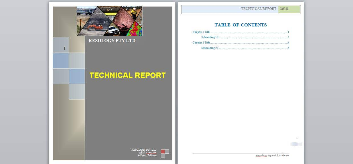 Entry 12 By Lau87artugyan For Word Template For A Technical Report Freelancer
