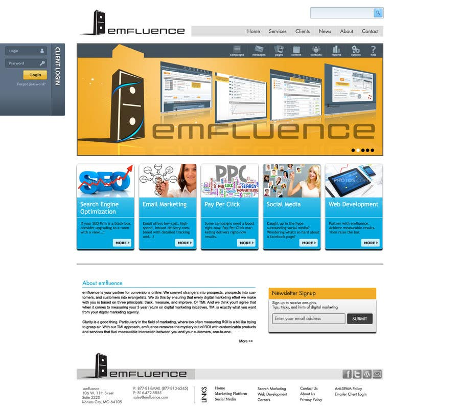Contest Entry #47 for Website Design, Responsive, HTML5