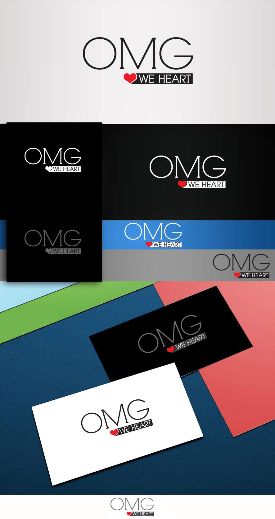 Proposition n°93 du concours Logo Design for new Company name: OMG We Heart.  Website: www.omgweheart.com