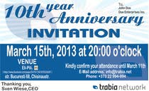 #61 for Corporate Party Invitation Design for 10th anniversary by dworker88