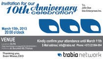 Graphic Design Contest Entry #74 for Corporate Party Invitation Design for 10th anniversary