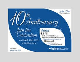 nº 83 pour Corporate Party Invitation Design for 10th anniversary par faisalkreative