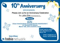 #85 for Corporate Party Invitation Design for 10th anniversary by venug381