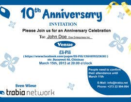 #85 para Corporate Party Invitation Design for 10th anniversary por venug381