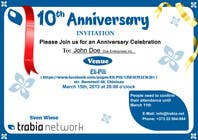 #87 for Corporate Party Invitation Design for 10th anniversary by venug381