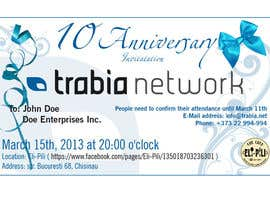 #125 para Corporate Party Invitation Design for 10th anniversary por dirak696
