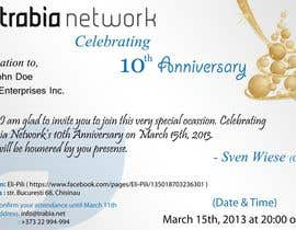 #58 para Corporate Party Invitation Design for 10th anniversary por salunkeswagat