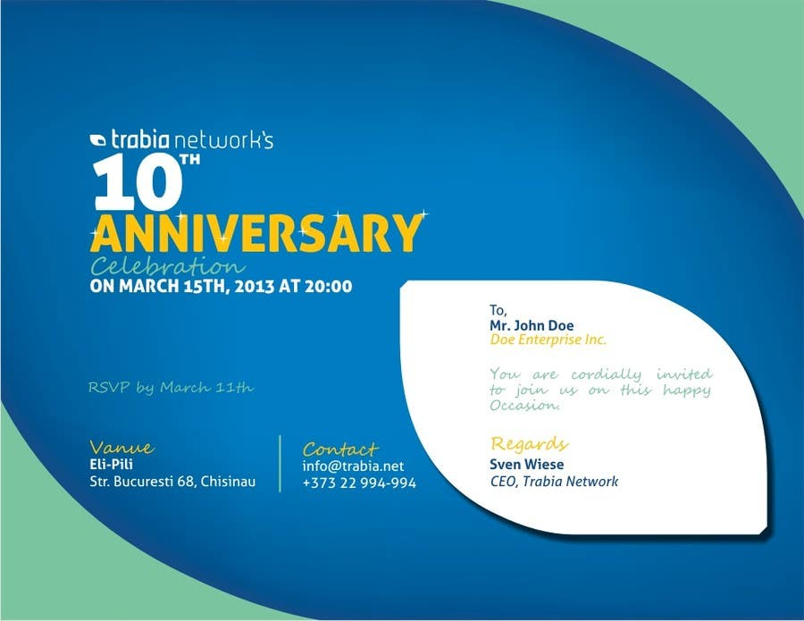 Photography Contest Entry #118 for Corporate Party Invitation Design for 10th anniversary