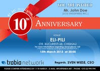 #128 for Corporate Party Invitation Design for 10th anniversary by quaarc