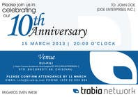#55 for Corporate Party Invitation Design for 10th anniversary by edendesignstudio