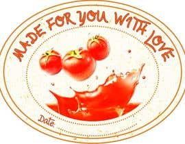 "#4 for 2.5"" round labels for Homemade Tomato Suace in a jar af BukhariGraphics"