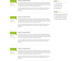 nº 13 pour Graphic redesign - FRONT PAGE and sub template - agreement24.com website par herick05