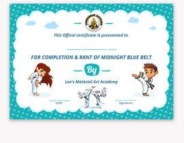 #31 for Design a Martial Arts rank certificate by DhanvirArt