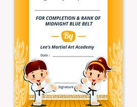 #32 for Design a Martial Arts rank certificate by DhanvirArt
