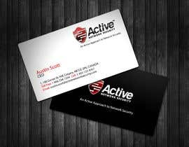 #32 dla Business Card Design for Active Network Security.com przez topcoder10