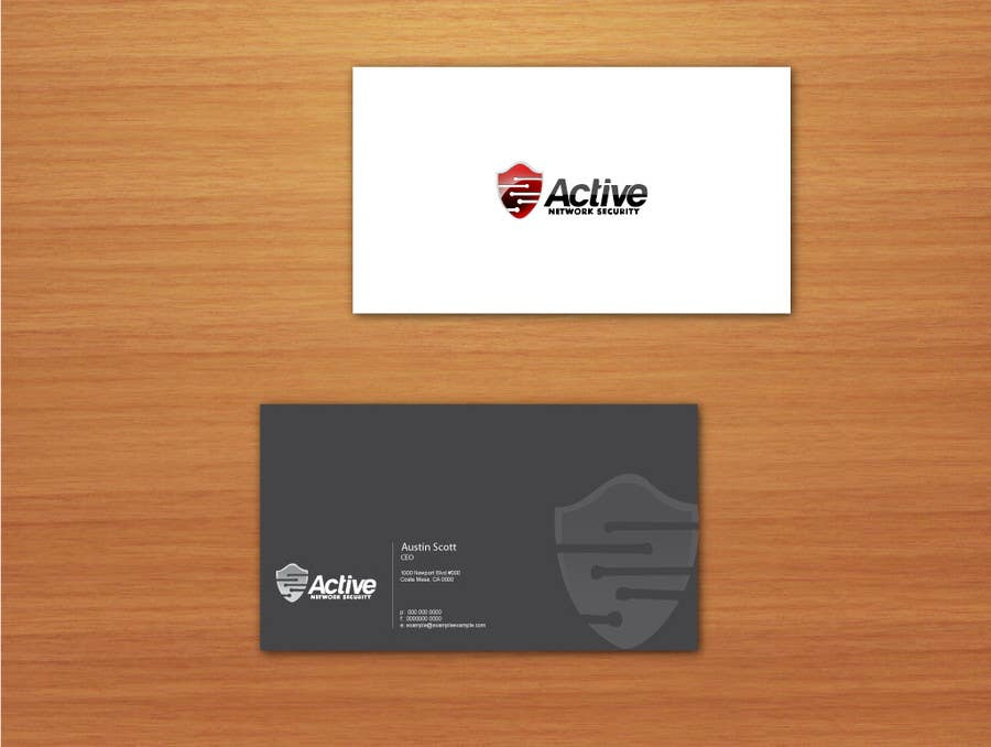 Contest Entry #31 for Business Card Design for Active Network Security.com