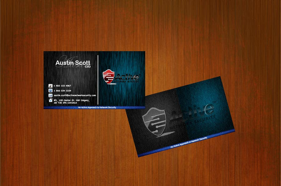 Contest Entry #                                        42                                      for                                         Business Card Design for Active Network Security.com