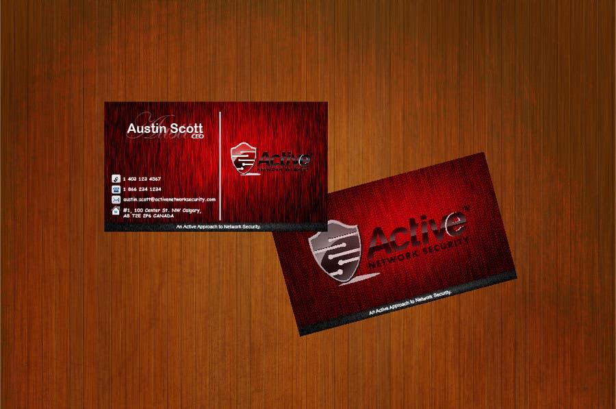 Inscrição nº 41 do Concurso para Business Card Design for Active Network Security.com