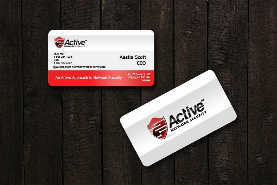 Contest Entry #                                        111                                      for                                         Business Card Design for Active Network Security.com