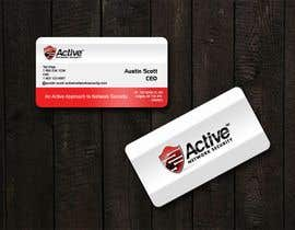 #111 pentru Business Card Design for Active Network Security.com de către kinghridoy
