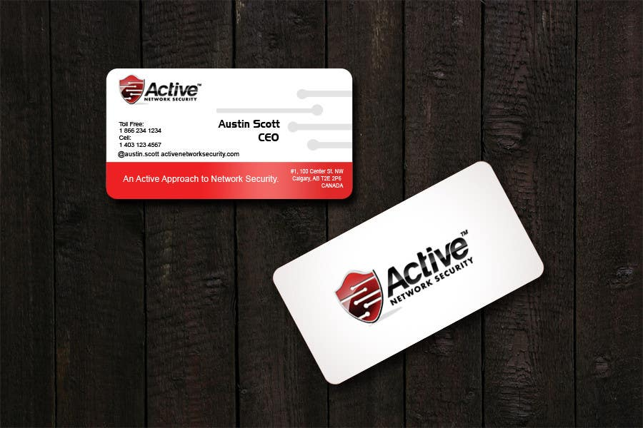 Contest Entry #113 for Business Card Design for Active Network Security.com