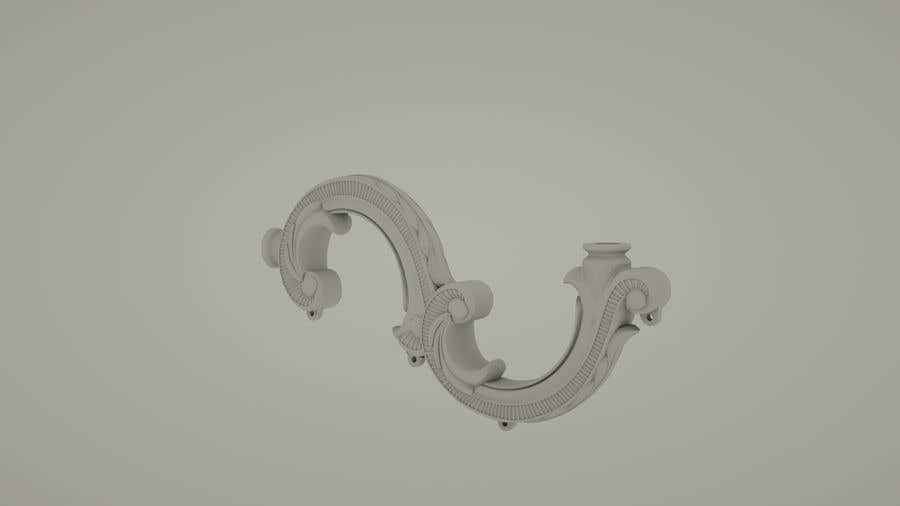 Entry #7 by dynamone for 3d model of chandelier arm needed