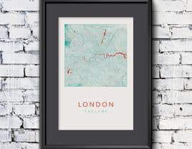 nº 10 pour London Map Design/Illustration for Art Prints/Posters par MartinReds