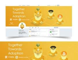 #31 para Design Twitter Cover Page of Bitcoin Merged Fork with Bitcoin Diamond de Marcoslanister