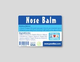 #13 for Design label for diferent organic natural dog balm for nose, paws and skin af mohamedgamal148