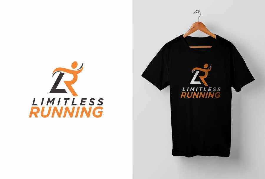 Proposition n°4 du concours Looking for a new logo for a running apparel company that specializes in shirts and hats. The company name is Limitless Running. The theme should revolve around nature and trail running. Pine trees, mountains, etc.