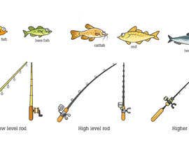 nº 25 pour Original, simple 2D cartoon fishing game artwork par datpt1112