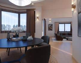 #24 для Living room and dining room design от khaledbouhedadj4