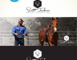 "#14 para A logo and Facebook banner. ""Scott Jenkins Horse Starting"" por DCArts101"