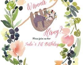 #7 สำหรับ A first birthday party invitation โดย saikaru