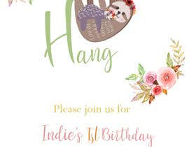 #11 สำหรับ A first birthday party invitation โดย sonalfriends86