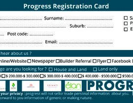 #38 для Design a Registration Card от rizia369