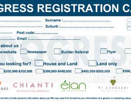 #28 для Design a Registration Card от shafiproject