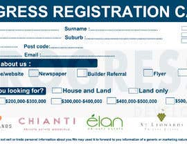 #30 для Design a Registration Card от shafiproject